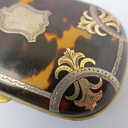 SALE Shop Special! Antique Pique Tortoise Shell Coin Purse with Gold and Silver Inlay ~ ...