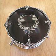 Antique Sterling Silver and Tortoiseshell Inlaid Silver Pique Trinket Casket Box ~ English ...