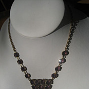 1/2 Price Shop Special! Exceptional Vintage Art Deco Period Czech Necklace with Beautiful ...