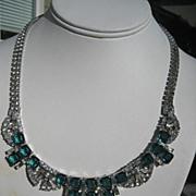 Shop Special! Vintage Boucher Rhinestone Necklace ~ Runway Piece