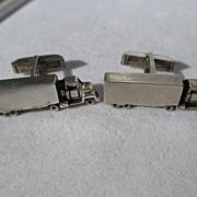 Vintage Sterling Silver Big Rig Truck Cufflinks ~ Fenwicks & Sailors