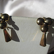 SALE Shop Special! Antique 14K Gold Pinwheel Dangle Earrings ~ Victorian Period