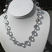 SOLD Rarest Polka Dots Pools of Light Quartz Crystal Necklace ~ Art Deco Period