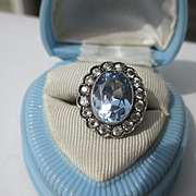 SOLD Shop Special! Spectacular Big and Beautiful Vintage Art Deco Natural Topaz / White Spinel