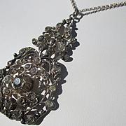 Antique Paste Pendant / Necklace 900 Silver ~ Victorian Period