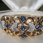 SALE Shop Special! Vintage Crown Trifari Clair de lune Faux moonstone Bracelet