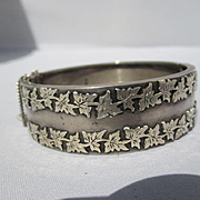SALE Shop Special! Antique English Sterling Silver Hinged Bangle ~ Victorian 1885