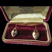 Antique Victorian Paste Earrings in 18K Gold