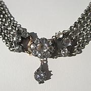 SALE Shop Special! Antique and Rare 5 Strand Quartz Rock Crystal Necklace ~ Georgian Period