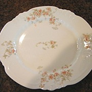 P & B Limoges Dessert Salad Plate Fancy Blank Peach Flowers