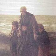 Vintage Calendar Pilgrim Print Lithograph  Pilgrim's Landing