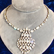 SALE Kramer White Rhinestone Necklace