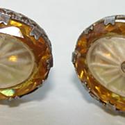 Jay Kel Edwardian Style Frosted Chinoiserie Earrings