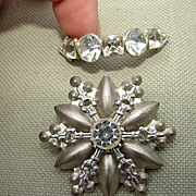 75 % off sale 2 Victorian Pins Brooches  1 Paste Rhinestone