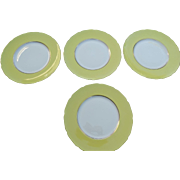 Gumps San Francisco Lenox Porcelain Dinner Plates Set 8 Rutherford Circle Yellow Early 20th Ce