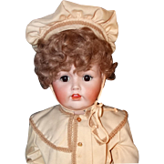 "Museum Exhibited Kestner JDK 257 Toddler  Boy Doll Circa 1910 Large 35"" Antique Bisque He"