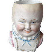 Antique Victorian Bisque Head Vase Baby Child Late 19th Century