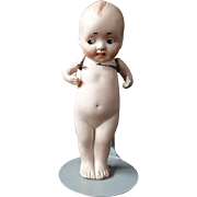 Kewpie Type Bisque Porcelain Doll Early 20th Century  Baby Doll