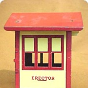 Tin Toy Train Station Erector Set Building Near Mint