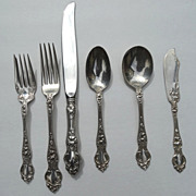 "Wallace Sterling Flatware 6 Piece Place Setting ""Violet"" 1904"