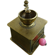 Mid Century Brass Miniature  Coffee Grinder larger scale Dollhouse