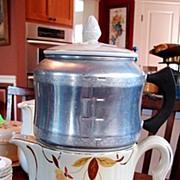 Hall's China Jewel Tea Autumn Leaf Drip Insert Coffee Pot W/scarce West Bend Aluminum Drip S