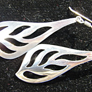 Art Nouveau Modern Sterling Silver Drop Earrings