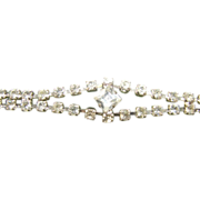 Vintage White Rhinestone Tennis Bracelet