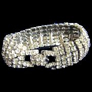 Vintage White Rhinestone Eisenburg Ice Style Fabulous Bracelet
