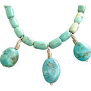 Genuine Turkish  Turquoise  Necklace