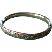 1/20 Gold Filled Engraved Bangle Bracelet 1920