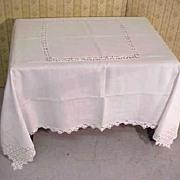 Tablecloth Heirloom Banquet Linen Filigree Lace