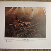 "Scarce Aviation WWII Limited Edition Print Terence Cuneo ""Mosquito Mk VI"" artist & p"
