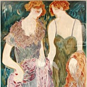 SISTERS Barbara Wood Rare Limited Edition #252/350 Serigraph Print Custom Gallery Framed Stunn