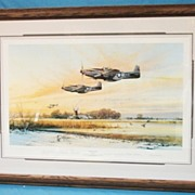 Robert Taylor Closed Limited Edition WWII Print Home At Dusk Custom Conservation Framed  Pilot