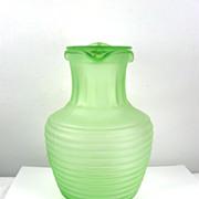 Hocking Green Depression Glass Beverage Server