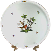 Herend Rothschild Bird Round Platter or Tray
