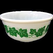 "Hazel Atlas Ivy Mixing Bowl, 7 7/8"""