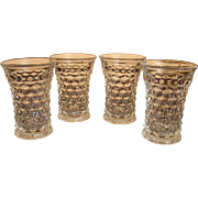 Set of 4 Fostoria American Flat Iced Tea Tumblers