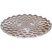 """Fostoria American 12"""" Footed Cake Plate"""
