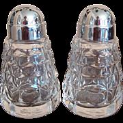 Pair of Fostoria American Salt & Pepper Shakers