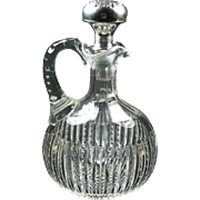 American Brilliant Glass Decanter, Gorham Sterling Stopper