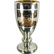 Antique Mercury Glass Goblet in the Grapevine Pattern