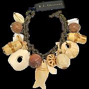 SALE R. J. Graziano Tiki Beach Charm Bracelet