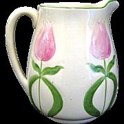 Antique Avalon Faience Pottery Tulip Pitcher