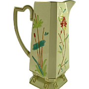 SALE Elegant Pre-1884 English Majolica Pitcher