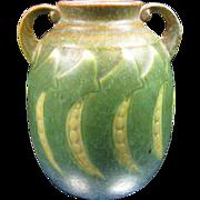 Roseville Pottery Falline ~Peas~ Double Handle Vase