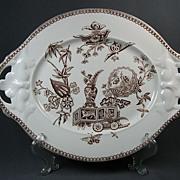 SOLD Antique Elsmore Staffordshire Aesthetic Transferware Platter