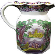 Mason's Vista Polychrome Pitcher: Mulberry, Green, Yellow