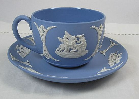 Blue Wedgewood Cup And Saucer 31